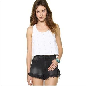 HOUSE OF HARLOW 1960 Sunny Eyelet Crop Tank TOP S